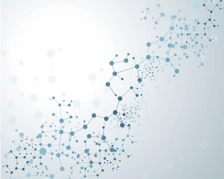 szerkezet: DNS-molekula, absztrakt háttér Illusztráció