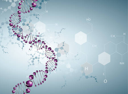 dna laboratory: DNA molecule structure background. eps10