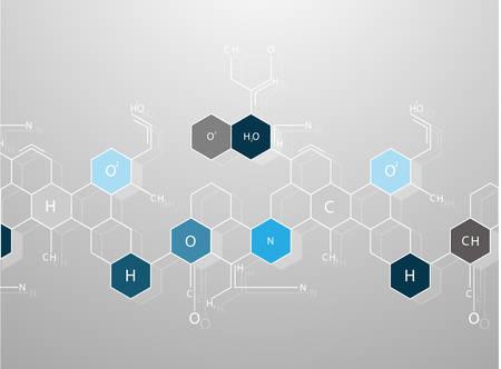 biomedical: Estratto molecole sfondo medico Vettoriali