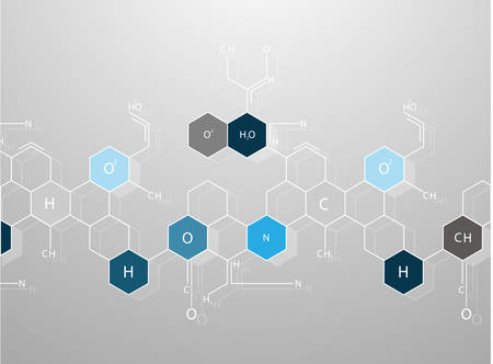 Abstract molecules medical background Illustration