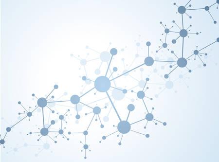 molecula de agua: Estructura de la molécula ilustración vectorial de fondo Vectores