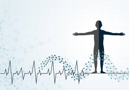 vectorrn: molecule heart Healthcare and Medical background Illustration