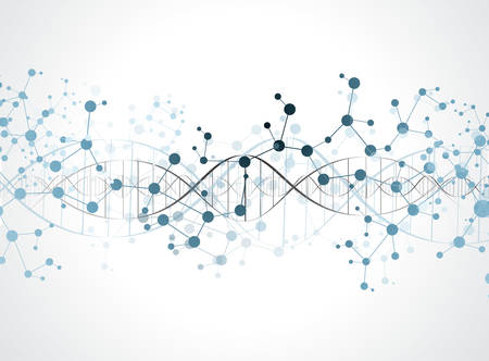 quimica organica: ADN estructura de la molécula de fondo. eps10 ilustración vectorial