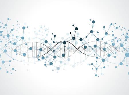 Struktura cząsteczki DNA tle. eps10 ilustracji wektorowych Ilustracje wektorowe