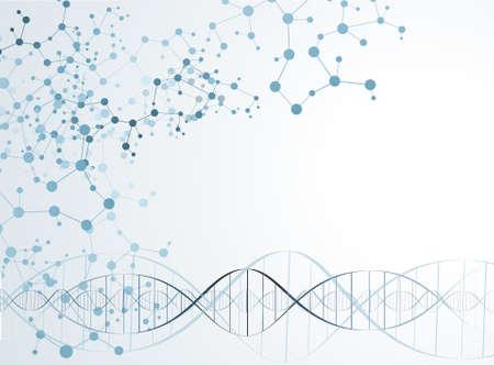 Struktura cząsteczki DNA tle. ilustracji wektorowych