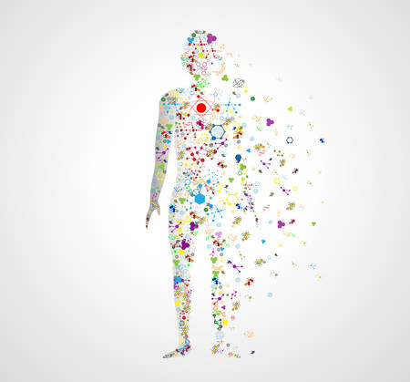 healthy person: Molecule body concept of the human DNA