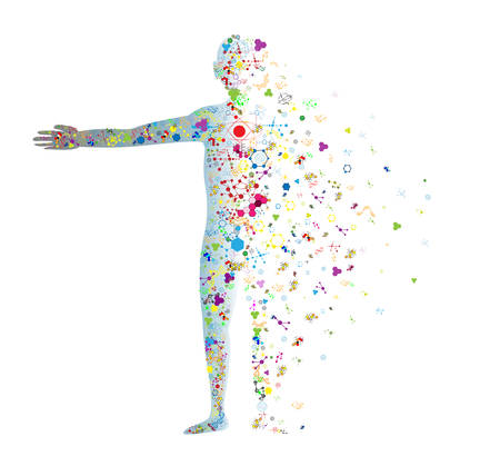 Molekula tělo koncept lidské DNA