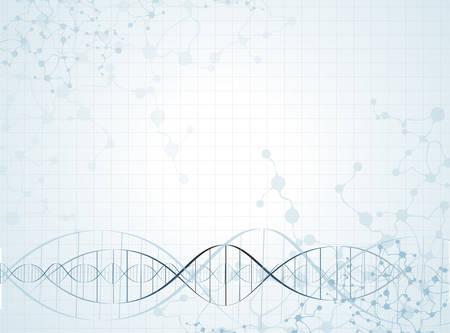 DNA 분자 구조 배경입니다. 벡터 일러스트 레이 션