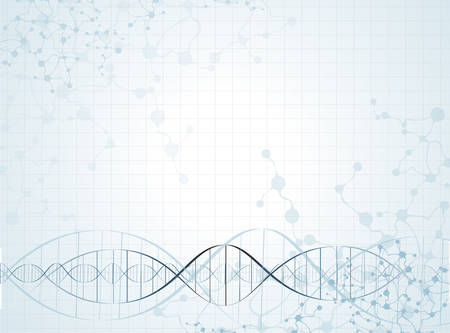 DNA-molecuul structuur achtergrond. vector illustratie Stock Illustratie