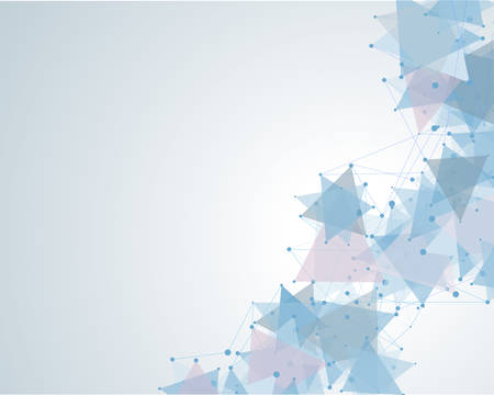 deoxyribose: molecular polygonal background abstract  vector illustration