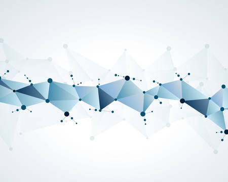 molecular polygonal background abstract eps10 vector illustration
