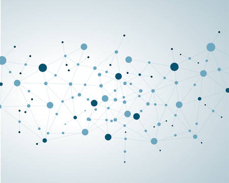 Concept molécules de neurones et de système médical vecteur eps10