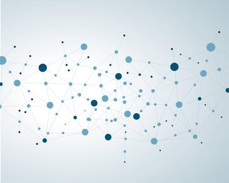 Moleculen Concept van neuronen en medische systeem vectoreps10 Stock Illustratie