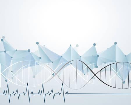 macromolecule: molecule heart Healthcare and Medical background Illustration