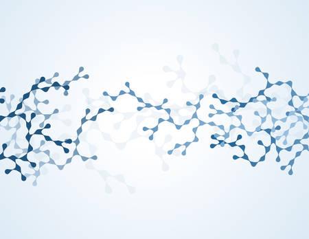 뉴런과 신경계 벡터의 분자 개념 일러스트