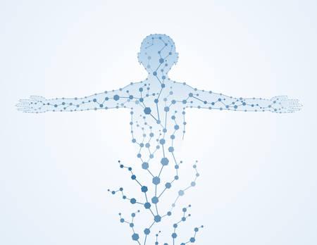 인간의 DNA EPS10의 분자 몸 개념 스톡 콘텐츠 - 79396316