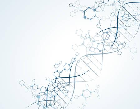 Moleküle dna Konzept der Neuronen und Nervensystem Vektor