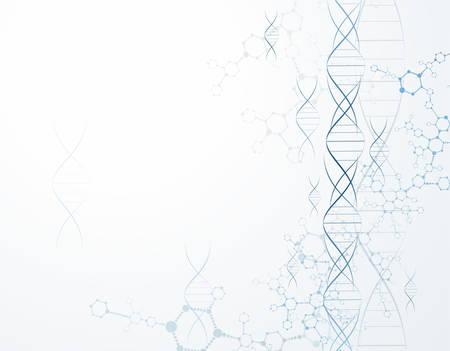 분자 dna 구조 입자. 과학적 개념과 벡터