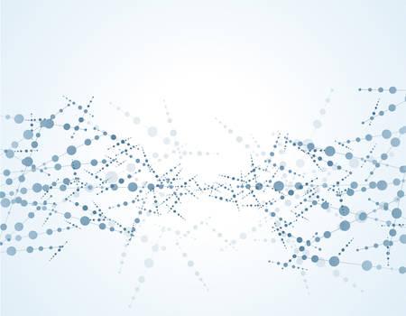 분자 구조 입자. 과학적 개념과 벡터 일러스트