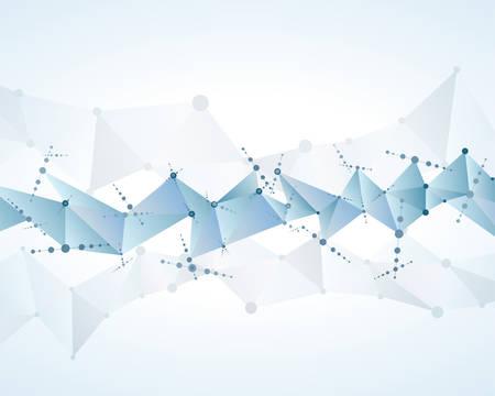 molecular polygonal background abstract eps10 vector