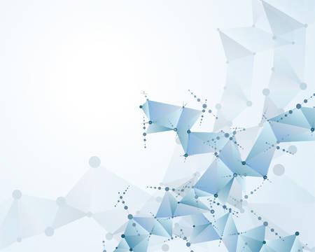 분자 다각형 배경 추상 eps10 벡터