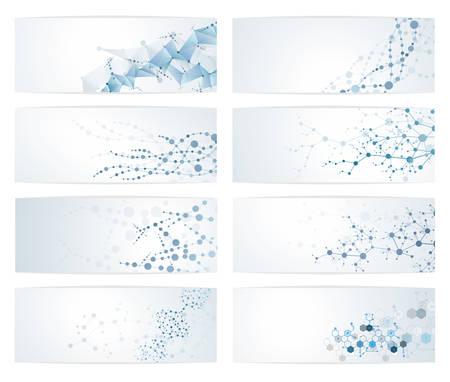 Dna 분자 구조 세트 과학 디지털 배경 벡터 일러스트 레이 션 eps10 스톡 콘텐츠 - 82157019