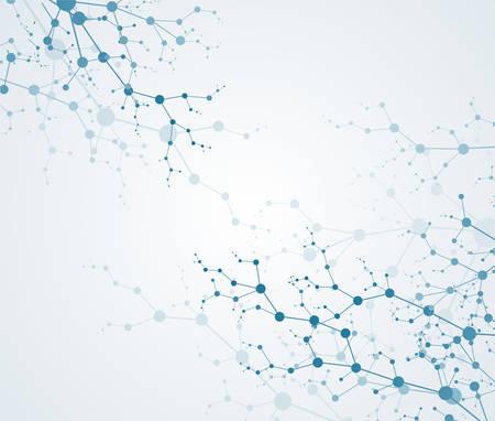 분자 구조 입자. 과학 개념 및 벡터 연결 스톡 콘텐츠 - 82156982
