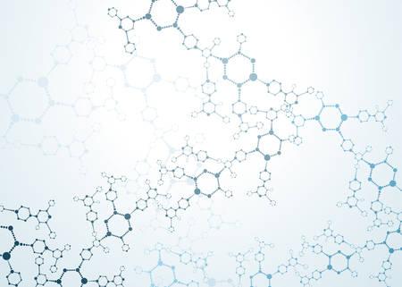 분자 구조 입자. 과학 개념 및 벡터 연결