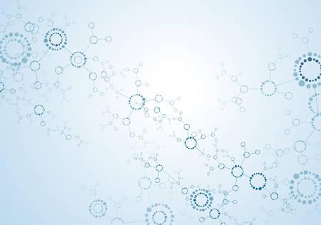 과학 개념, 분자 구조 입자입니다. 스톡 콘텐츠 - 85868322