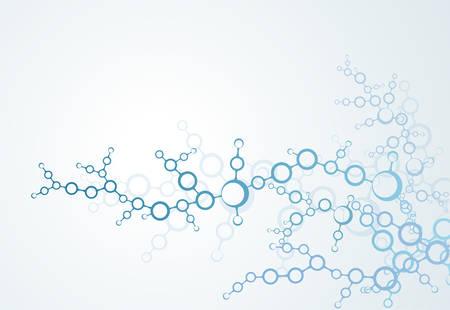 과학 개념, 분자 구조 입자입니다.