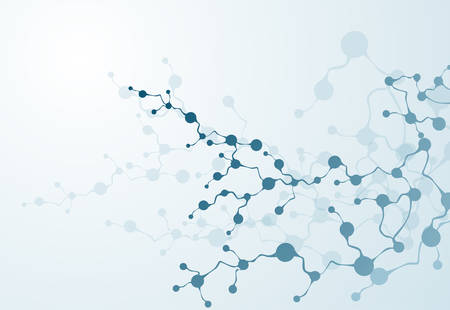 뉴런 의료 시스템 벡터의 분자 DNA 개념