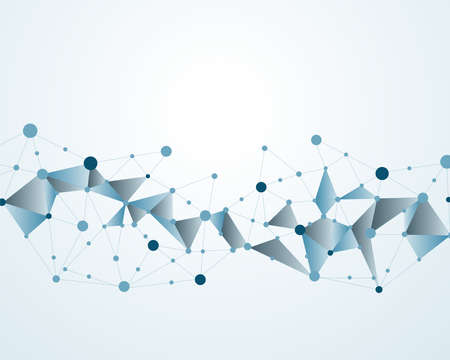 분자 다각형 배경 추상적 인 벡터 일러스트 레이션 일러스트