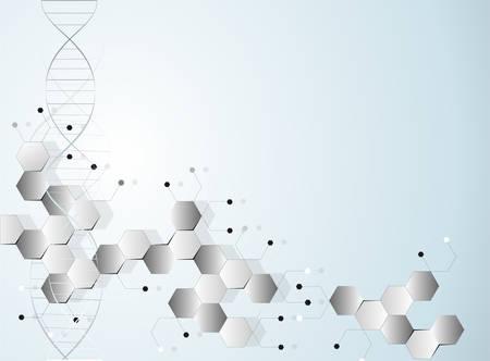 Molecular polygonal background abstract vector illustration