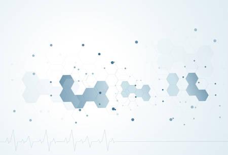 molecule structure Science digital backgrounds vector illustration