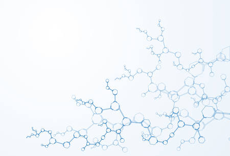 molecule structure Science digital backgrounds vector illustration