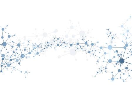 Molekül-DNA-Konzept des medizinischen Systems der Neuronen