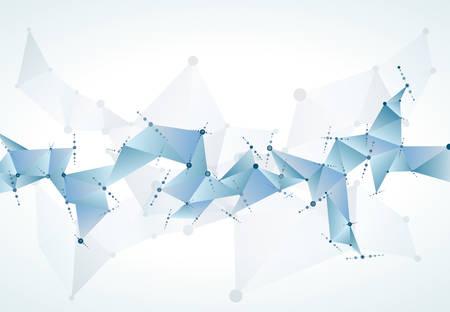 chemistry science molecular structure polygonal background illustration