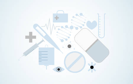 Medical icon conceptual illustration of modern science