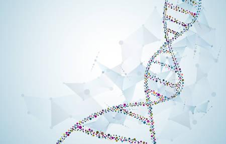 DNA concept vector Scientific molecular structure polygon background