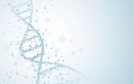 DNA molecules, concepts of neurological vector, modern medical technology background 일러스트