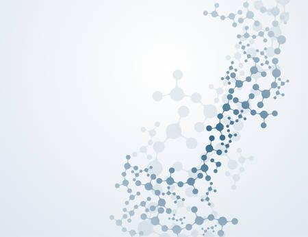concepto de estructura molecular y vector de adn e ilustración de ciencia química
