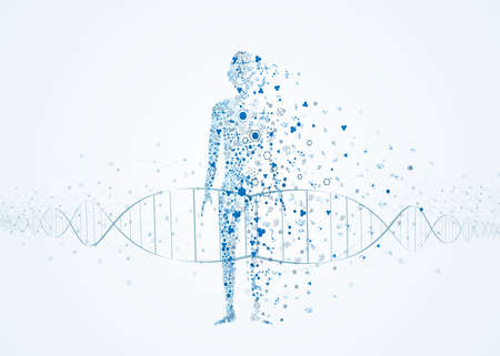 molecule abstract body concept of the human DNA chemistry science illustration