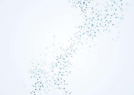 dna molecules connection concept vector neurons cell