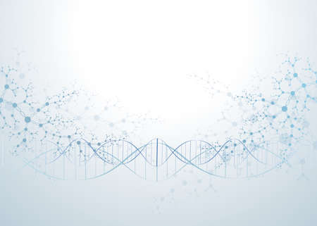 abstract concept of connecting molecules DNA network vector neurons