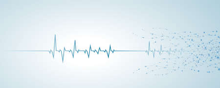 abstract of heart-wave connecting DNA,vector networks science neurons vector