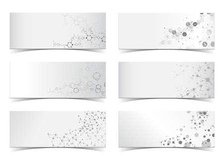 Dna Molecular structure set science black and white digital background