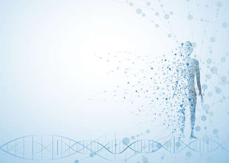 molecule body concept of the human DNA vector chemistry science illustration