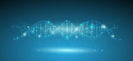 connection concept of fluorescence molecules and DNA is used in medicine and business.