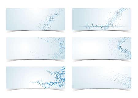 Concept of neurons medical set of dna molecule structure science digital backgrounds system vector