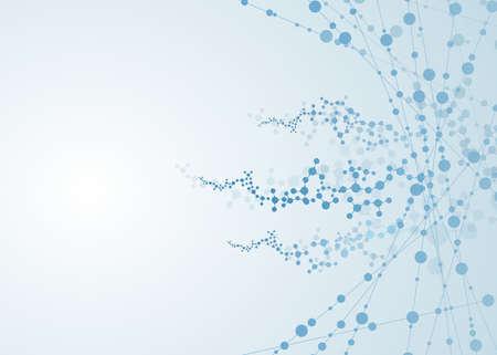 molecule dna connection concept vector neurons cell Vektoros illusztráció